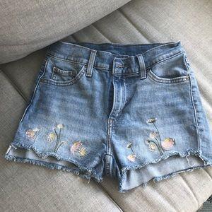 Levi's high rise shorts